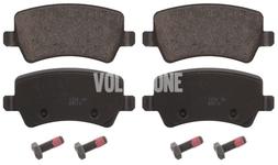 Zadní brzdové destičky (elektrická parkovací brzda)(plný kotouč) P3 S80 II/V70 III/XC70 III