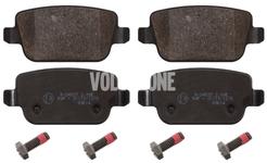 Zadní brzdové destičky (manuální parkovací brzda)(plný kotouč) P3 S80 II/V70 III/XC70 III