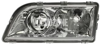Světlomet levý duální S40/V40 (1999-) chrom 4 PIN