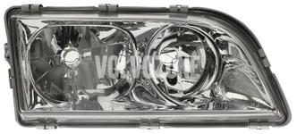 Světlomet pravý duální S40/V40 (1999-) chrom 4 PIN
