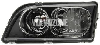 Světlomet levý duální S40/V40 (2003-) černý