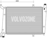 Chladič motoru (vody) 1.9DI (70kW) S40/40