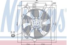 Vrtule ventilátoru chladiče motoru 1.6/1.8/2.0 (2000-) S40/V40
