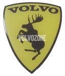 Živicová nálepka Los Volvo - žlutá