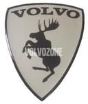 Živicová nálepka Los Volvo - chromové pozadí
