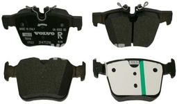 Zadní brzdové destičky (320/340mm) SPA S60 III/V60 II(XC) S90 II/V90 II(XC) XC60 II/XC90 II Variant code RC01