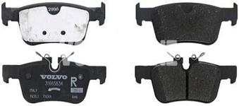 Zadní brzdové destičky (302mm kotouč) SPA S60 III/V60 II(XC) S90 II/V90 II(XC) XC60 II Variant code RC01