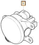 Mlhové světlo LED levé SPA S60 III/V60 II(XC)