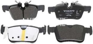 Zadní brzdové destičky (302mm kotouč) SPA S60 III/V60 II(XC) S90 II/V90 II(XC) XC60 II Variant code RC02