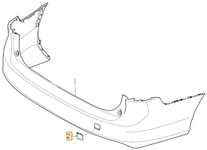 Krytka tažného oka do zadního nárazníku SPA V90 II