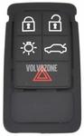 Náhradní tlačítka pouzdra dálkového ovládání P3 S60 II(XC)/V60(XC)/XC60 S80 II/V70 III/XC70 III - 5 tlačítkové