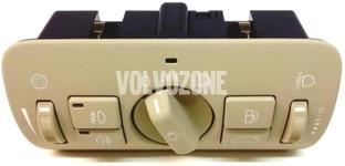Kombinovaný spínač světel P3 S80 II/V70 III/XC70 III/XC60 halogenová světla, béžový