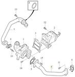 Trubka EGR ventilu 2.0 D2/D3/D4/D5 (2014-) P1 P3 SPA/CMA