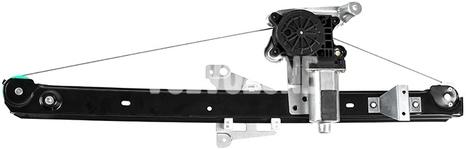 Mechanismus stahování zadního pravého okna P2 XC90 s elektromotorem, strana za spolujezdcem