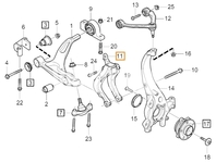 Vidlička zavěšení ramena pravá SPA S60 III/V60 II