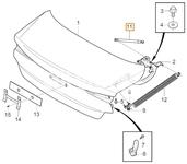 Vzpěra kufru SPA S60 III