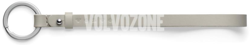 Kožený řemínek na klíče Volvo, 18cm bledý