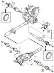 Zadní poloos levá/pravá P2 S60/V70 II/XC70 II převodovka M66 AWD (D5), TF-80SC AWD (R)