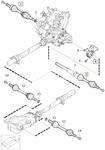 Poloos pravá T5 P1 (2009-) S40 II/V50 převodovka M66 AWD