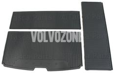 Gumová rohož do kufru 7 míst, 3 dílná SPA XC90 II - černo-šedá