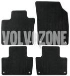 Textilní velurové koberce SPA XC90 II - černo-šedé