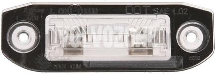 Osvětlení evidenčního čísla P1 C70 II/S40 II/V50, P2 (2004-) S80/XC90, P3 S60 II(XC)/V60(XC)/XC60 S80 II/V70 III/XC70 III