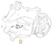 Snímač počtu otáček zadního kola SPA XC40 (Variant AG02)