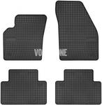 Gumové rohože P1 C30/S40 II/V50 - černo-šedé