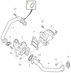 Těsnění trubky EGR ventilu 2.0 D2/D3/D4/D5 (2014-) P1 P3 SPA/CMA
