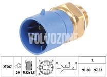 Teplotní spínač ventilátoru chladiče 1.9TD/DI S40/V40 (3 póly - vozidla s klimatizací)